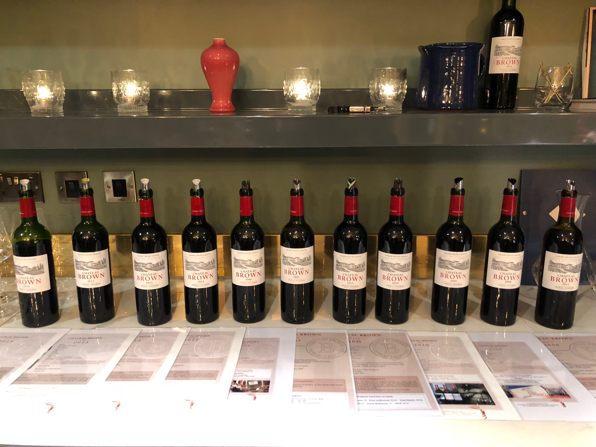 Chteau brown what are the best vintages to buy from 2005 through tasting wines from the 2015 vintage all the way back to the 2005 vintage offered an opportunity to chart the development of grapes from the same region geenschuldenfo Gallery