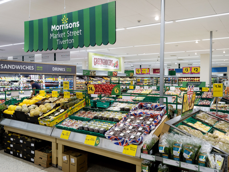 What Morrisons is famous for...its market street retailing approach and excellent fresh produce