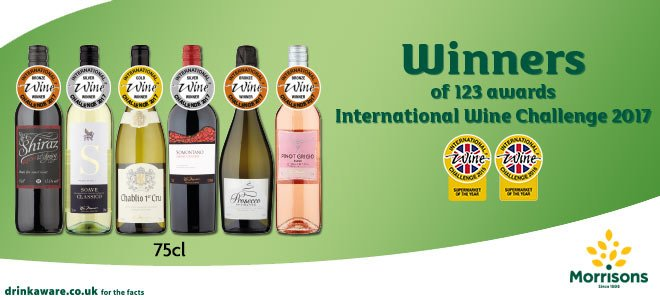 Award winning wines...but only in the eyes of the consumer