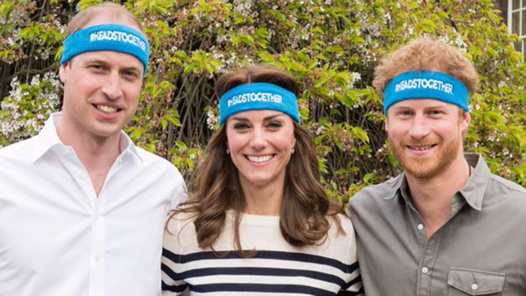 The Duke and Duchess of Cambridge and Prince Harry supporting the Heads Together campaign