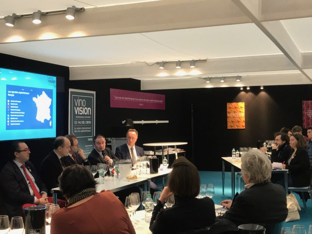 VinoVision attracted a number of sommeliers to the event, particularly from France, like this debate amongst leading sommeliers about how they are working with cool climate wines on their lists