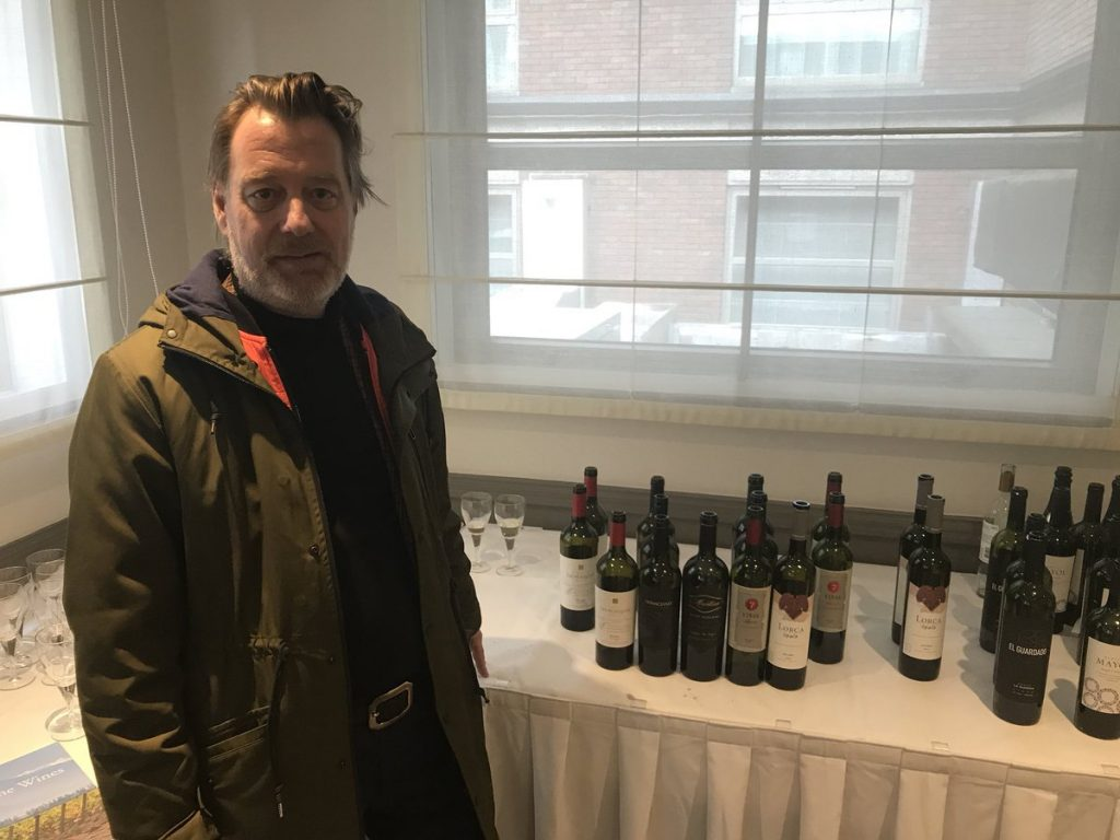 Mad for it: Phil Crozier at last week's Alternativa tasting