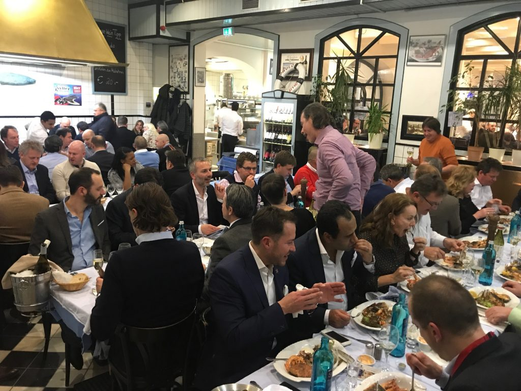 Talk in the town...Prowein is as much about the business and networking done in downtown Dusseldorf than it is the Messe exhibition hall