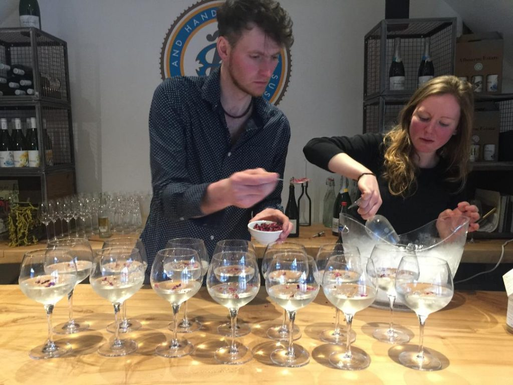 Getting ready to launch the Albourne vermouth at a special event last month