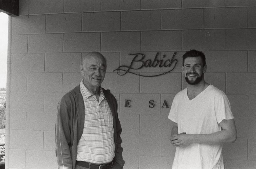 Joe Babich and Harry Crowther during Harry's stay doing the vintage in New Zealand