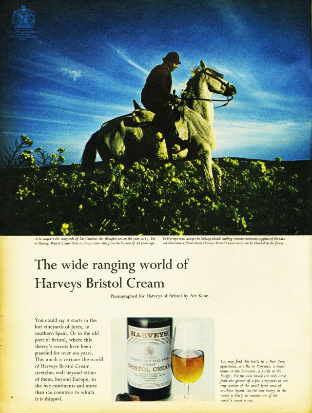 One of Colin Millward's adverts for Harveys
