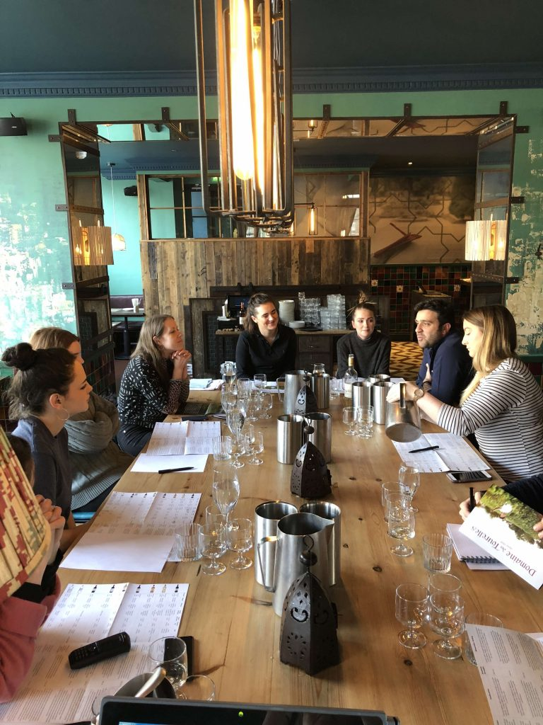 Nothing beats working hand in hand with the sommelier and wine teams where your wine is being sold like here in Edinburth