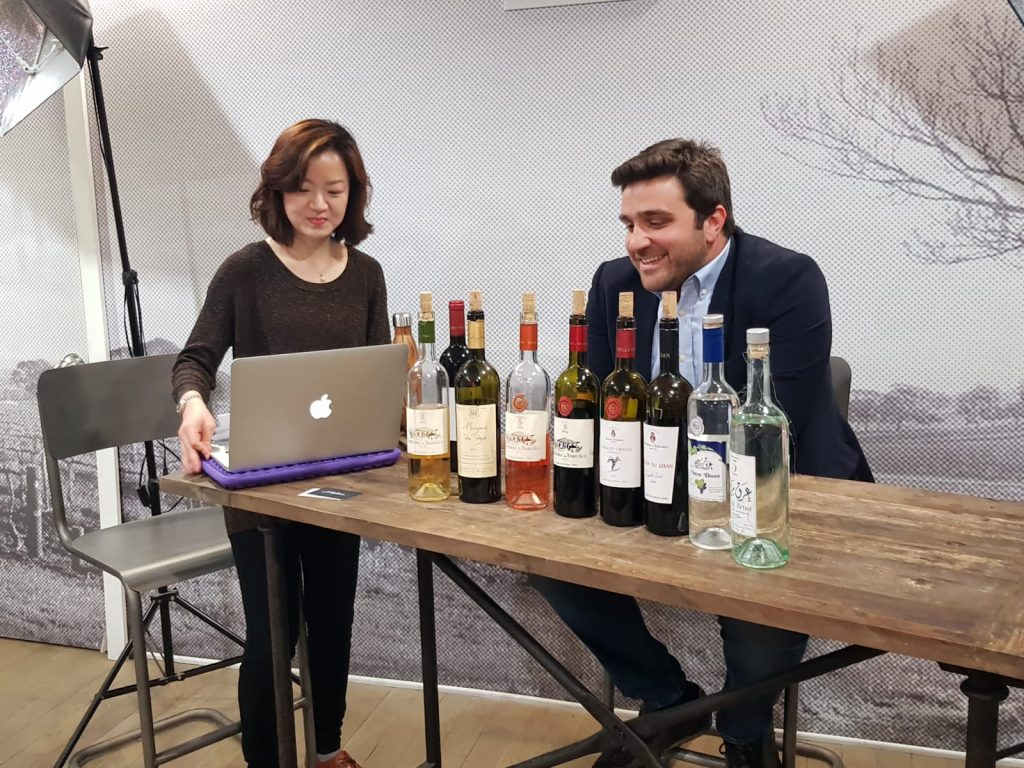 Faouzi Issa prepares to be interviewed for the Grape Collective in New York