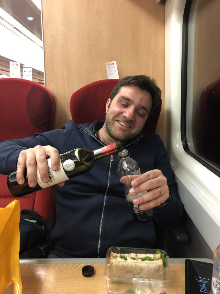 Let the train take the strain: Faouzi had to take a long train trip to Edinburgh when caught out by the Beast of the East storm earlier in the year