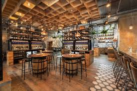 Is that a winery over there? Vagabond's new urban winery at its bar in Battersea Park