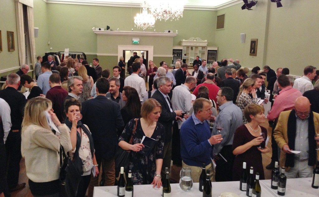 One of the many joint wine merchant events Jukes hosts to help show his 100 Best wines to consumers. Here with Harpers Wells in 2014. Photo Matthew Jukes