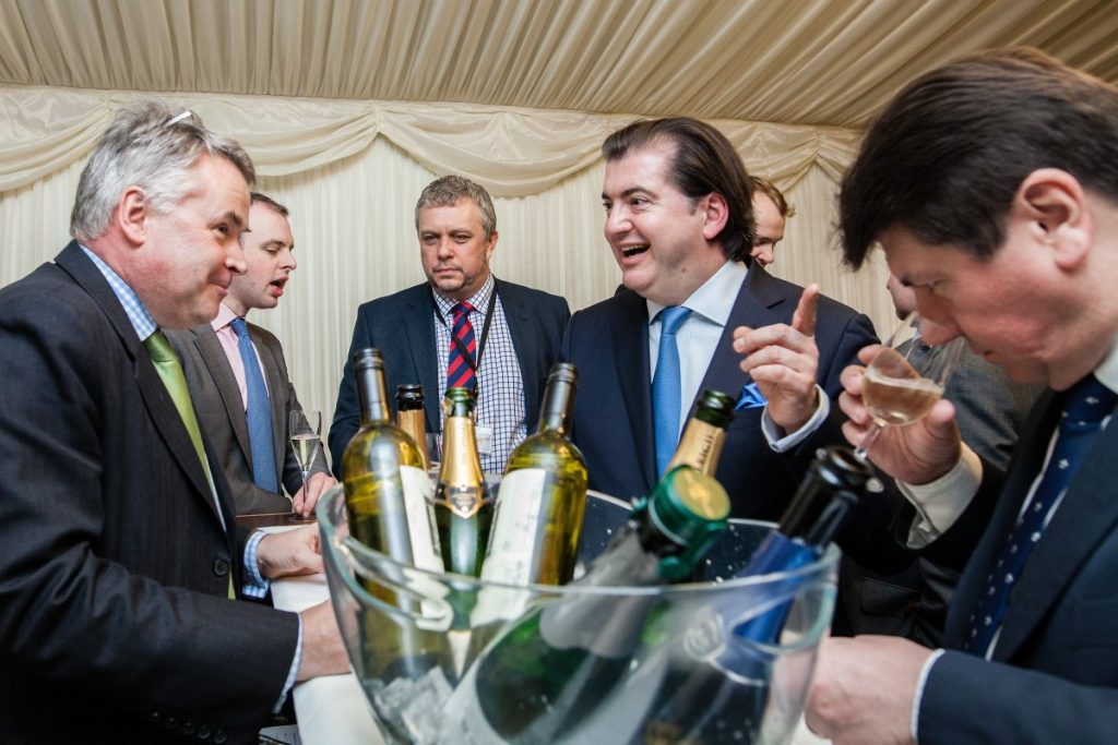 Jukes' Daily Wine column allows him to reach a large audience. Here he is helping the WSTA to lobby MPs at a recent Westminster reception