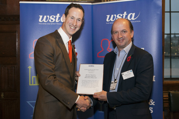 "Michael Saunders was named ""Campaigner of the Year"" by the WSTA for the work he did supporting the WSTs"