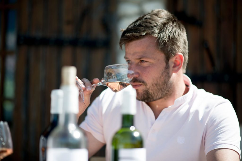Winemaker Mathieu Crosnier is being rewarded with Gold medals in wine competitions