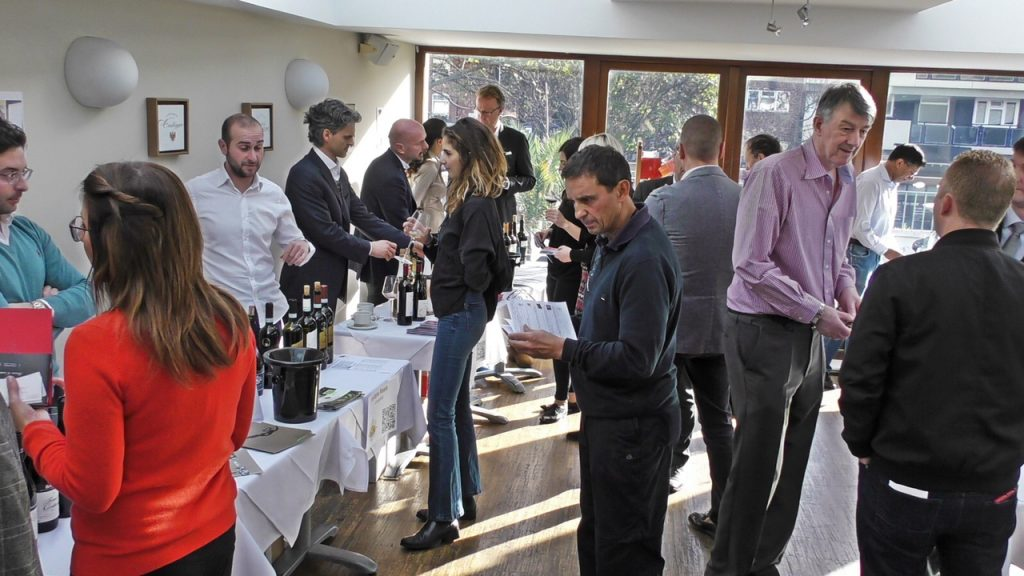 The GS Wines team at the first Italian Wine Journey tasting held at London's Fish