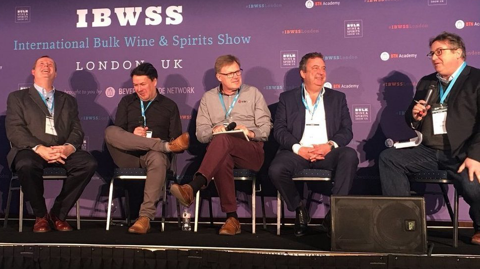 The Buyer's debate at IBWSS London in March included Mark Lansley, Broadland Wineries, Neil Anderson of Kingsland Drinks, Denys Hornabrook of VINEX.market and Robin Copestick of Copestick Murray, chaired by The Buyer's Richard Siddle