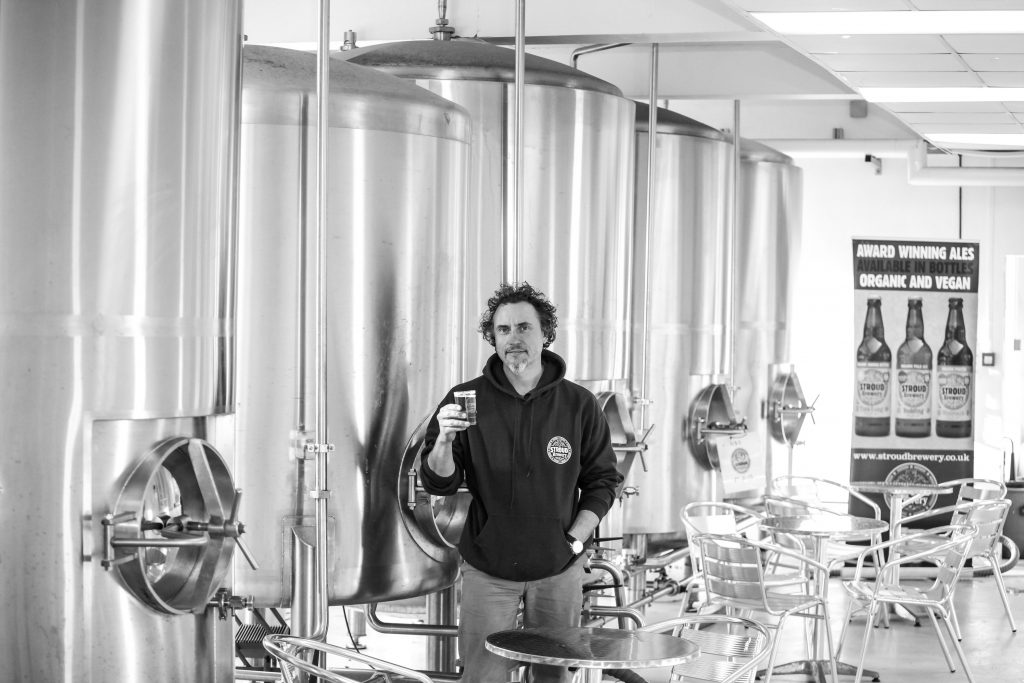 Greg Pilley at home in his brewery