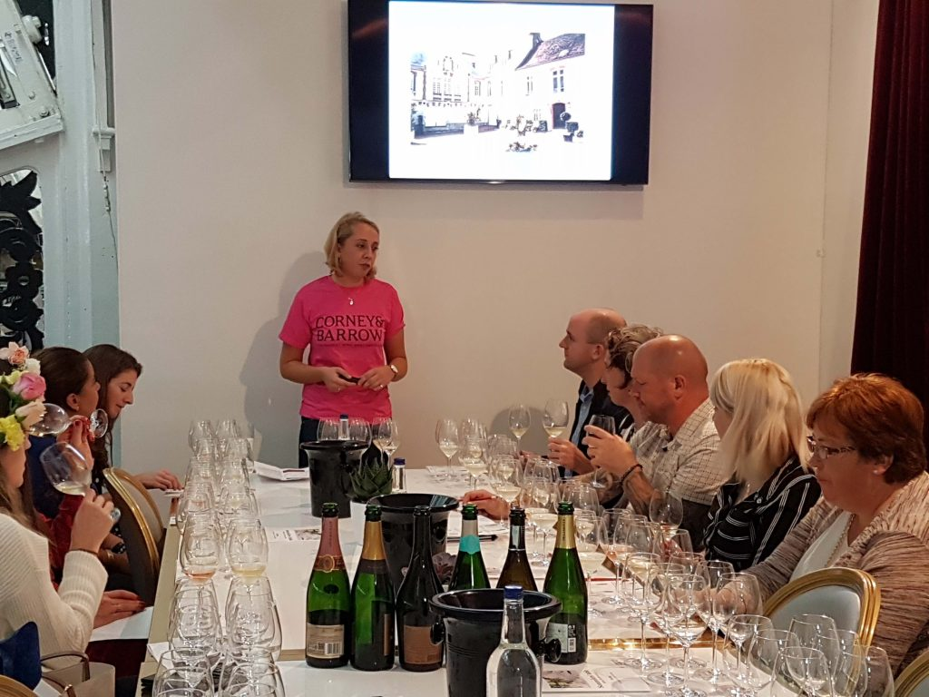 """Have you heard the one about..."" Olivia Marsh says hosting tastings is as much about how you can entertain the audience as much as inform or talk about the wines"