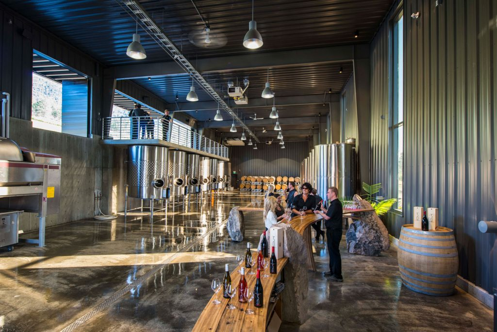 The winery, cellars and restaurants of the 50th Parallel winery are truly breathtaking