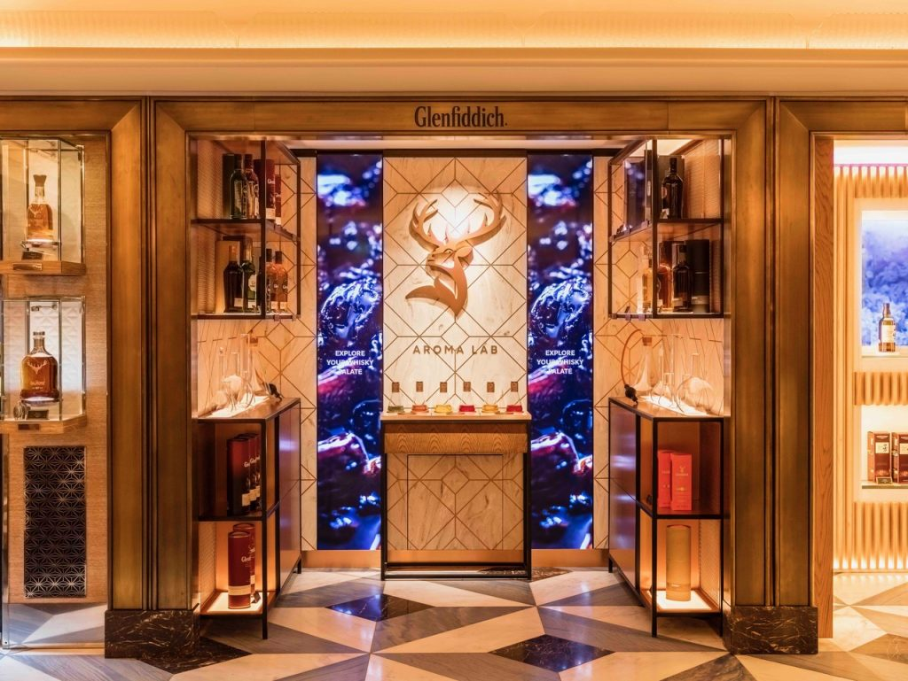 Here's how Glenfiddich shows how unique its brand with this interactive aroma lab in Harrods