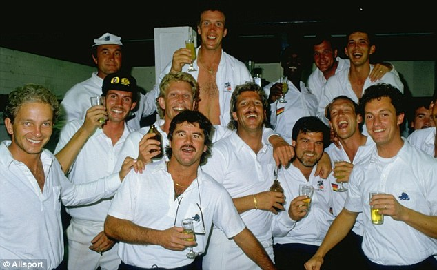 It was not always beer the England cricket team celebrated and relaxed with whist on tour...