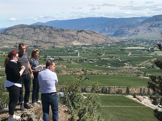 The stunning scenery that stretches down to Culmina's vineyards