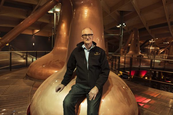 Grier at home in the new Macallan distillery
