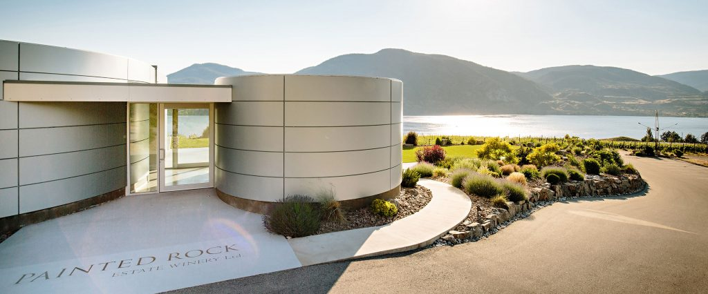 Party winery, part cellar, part James Bond hang out. Painted Rock right on the shore of Okanagan's lake