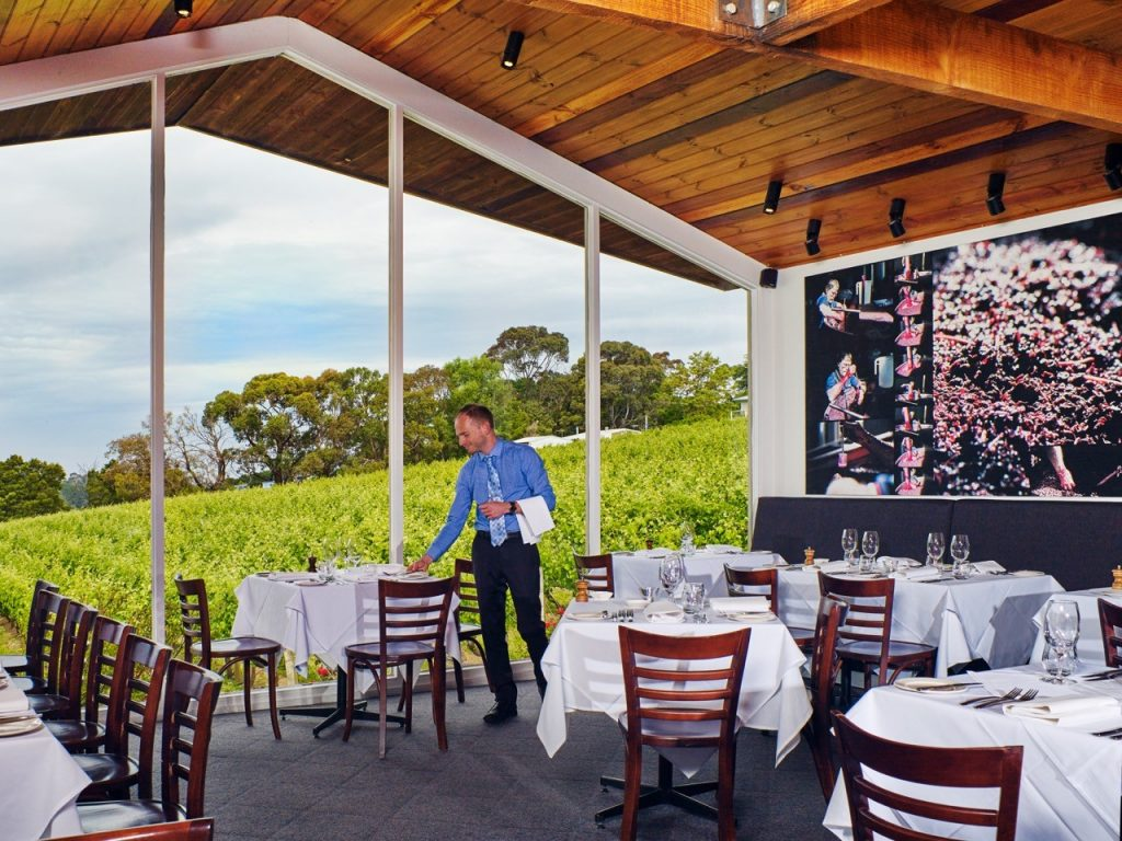 The perfect setting for a restaurant at Paringa Estate