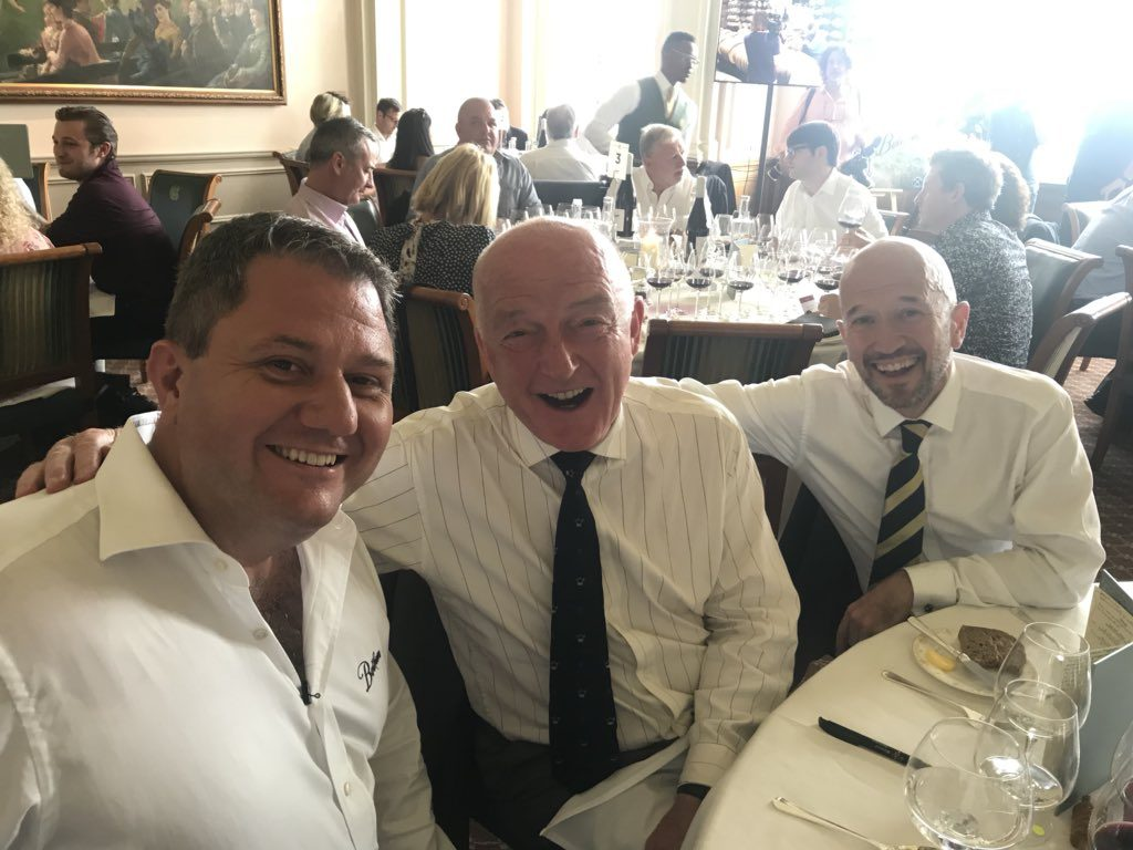 Part of the launch was introducing the wines to key critics and commentators. Here's Paul Schaafsma at the launch of the wines at Lord's with Oz Clarke and Joe Fattorini