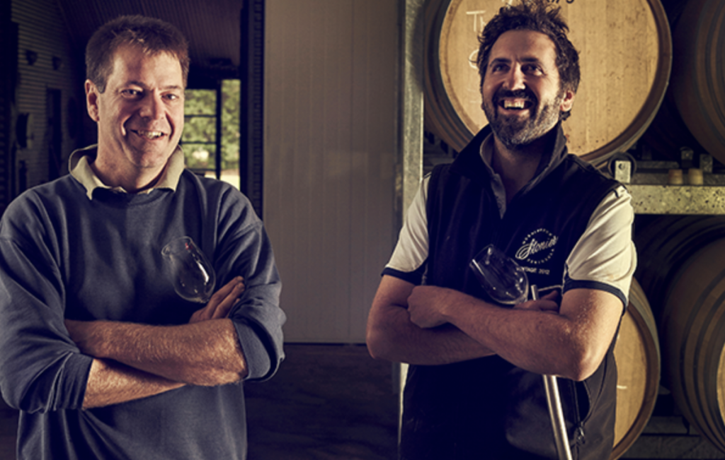 Mike Symons and Will make a winning team at Stonier Wines