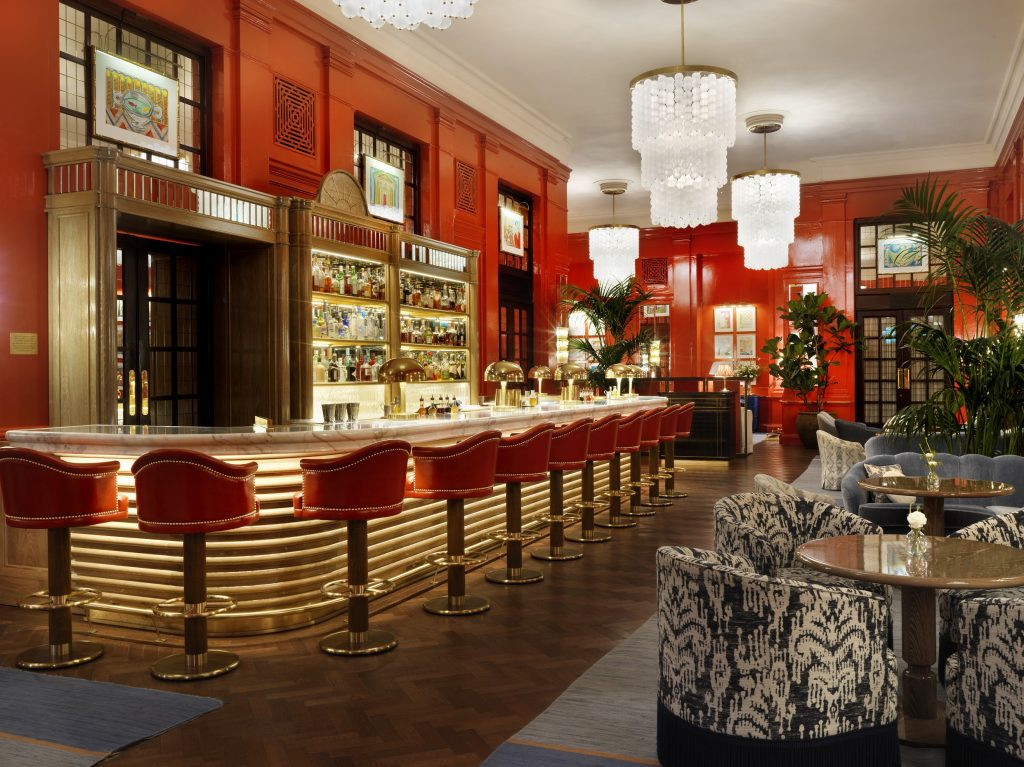 The newly opened Coral Room in the Bloomsbury Hotel, which offers one of the widest selection of English sparkling wines by the glass and bottle