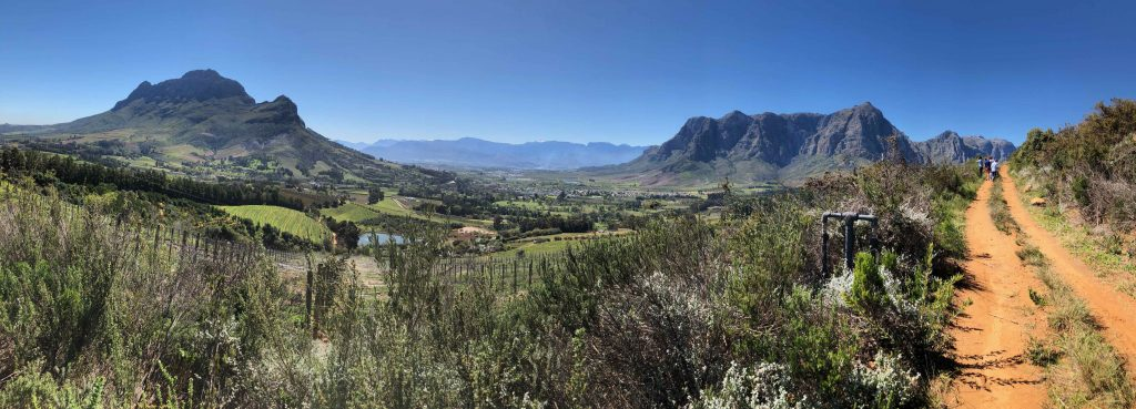 The stunning Banghoek Valley