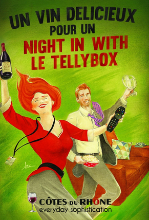 This is the latest activity as part of an on-going Côtes du Rhône campaign to bring its wines to everyday drinkers like these posters that ran in the London tube