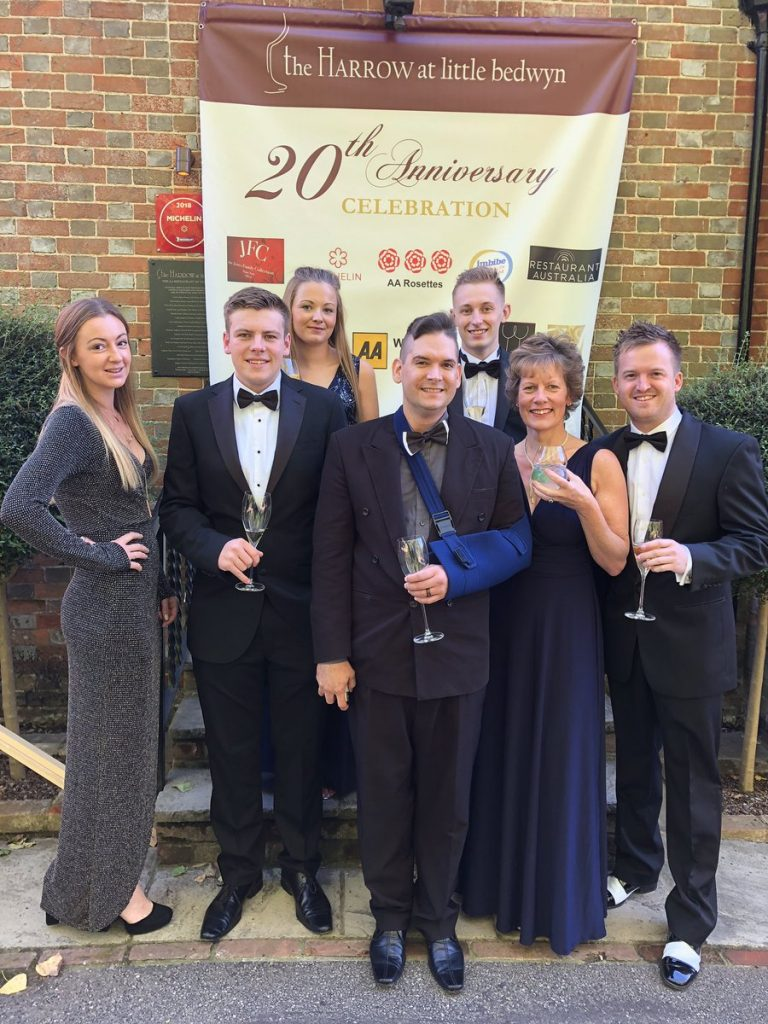 The Harrow team before boarding the bus to take them to the recent AA Restaurant awards - Roger was the one taking the picture...