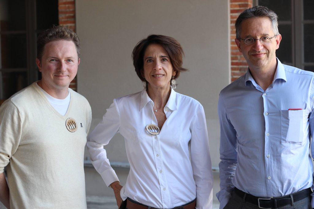 Christian Holthausen with Anne and Antoine Malassagne who have been in charge of AR Lenoble since