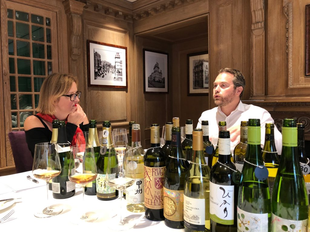 Sarah Abbott MW and Caprice's Guillem Kerambrun analyse the Japanese red wines for Wines of Japan annual tasting