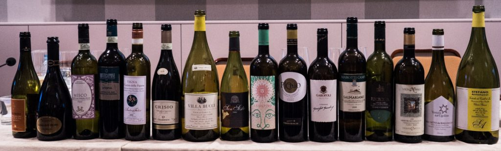 The tasting line up