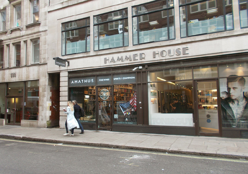 Amathus's most famous store in the heart of Soho on Wardour Street where local bars go for emergency supplies
