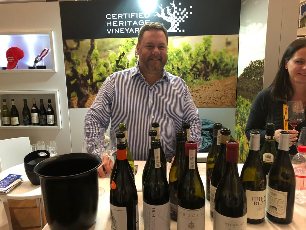 Andre Morgenthal at the Old Vine project's stand at Cape Wine in Cape Town in September