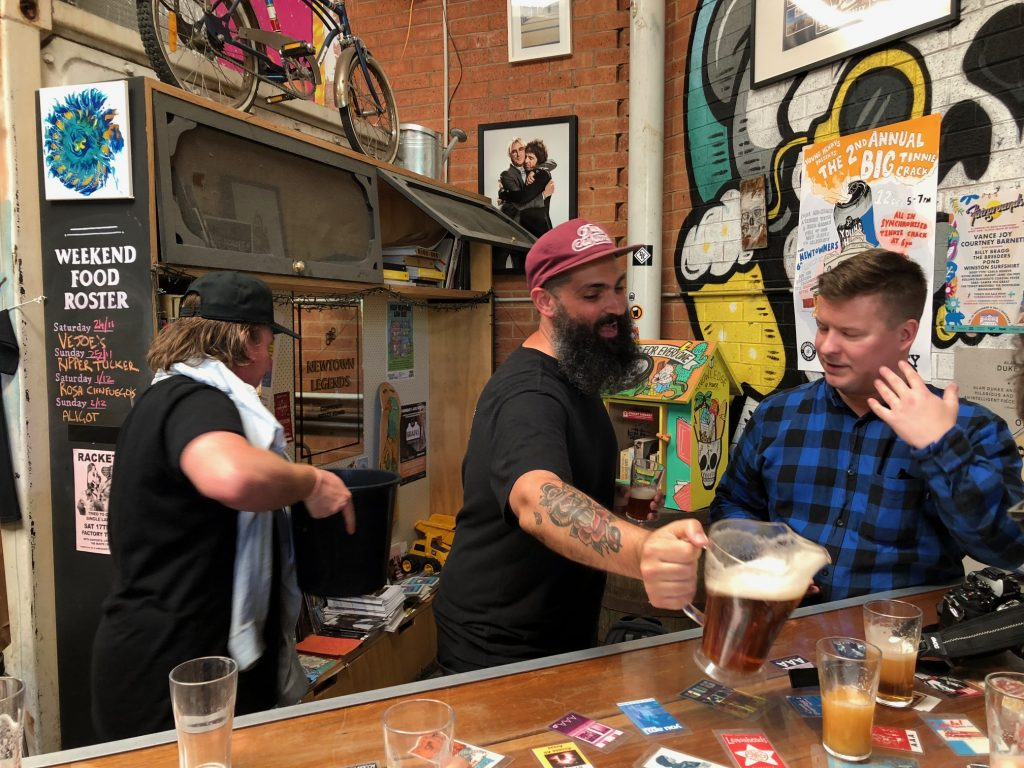 The rise in craft beer, like here at in Newtown, shows how local consumers want to tap into authentic Australian ingredients and drinks companies