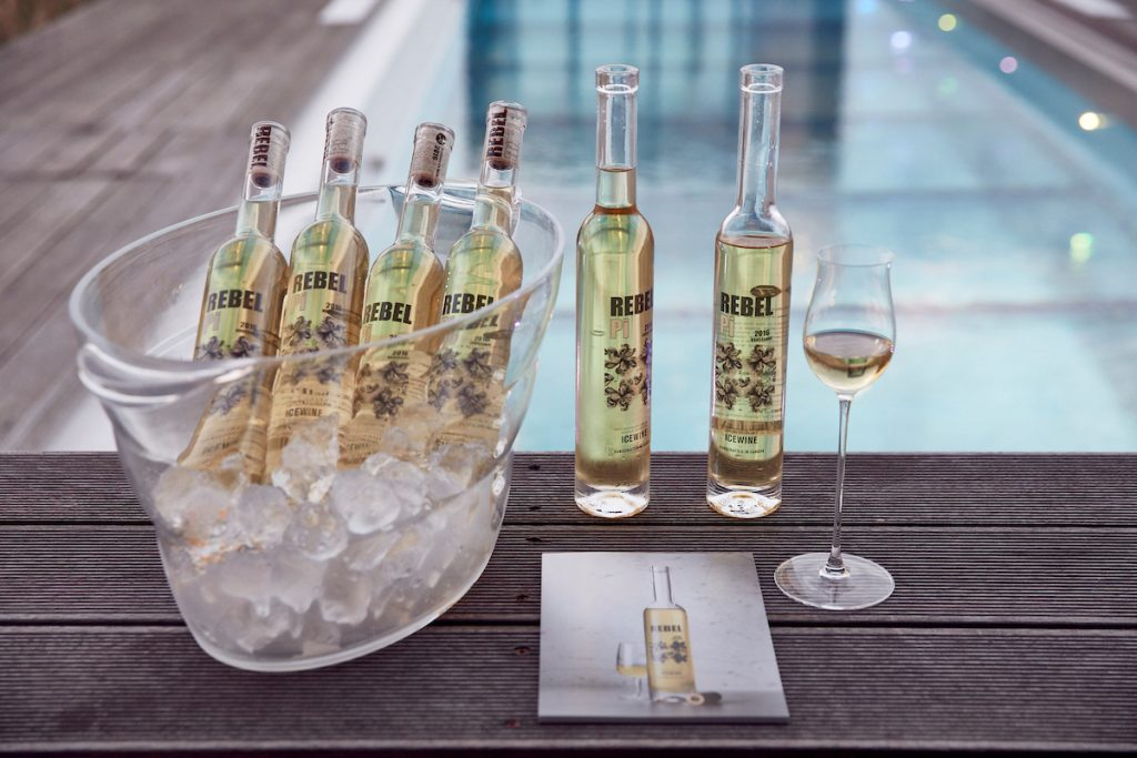 Jackie Fast's Rebel Pi ice wine comes from her home in Okanagan Valley in Canada