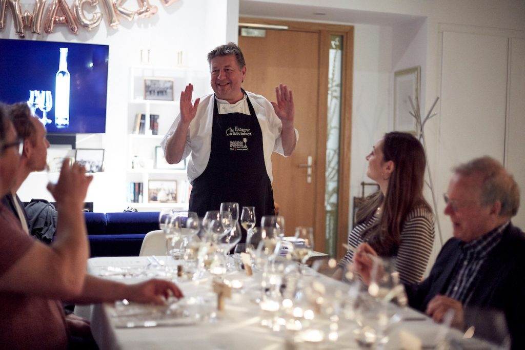 Roger Jones of The Harrow at Little Bedwyn helped pair Rebel Pi with his tasting menu at the brand's media launch