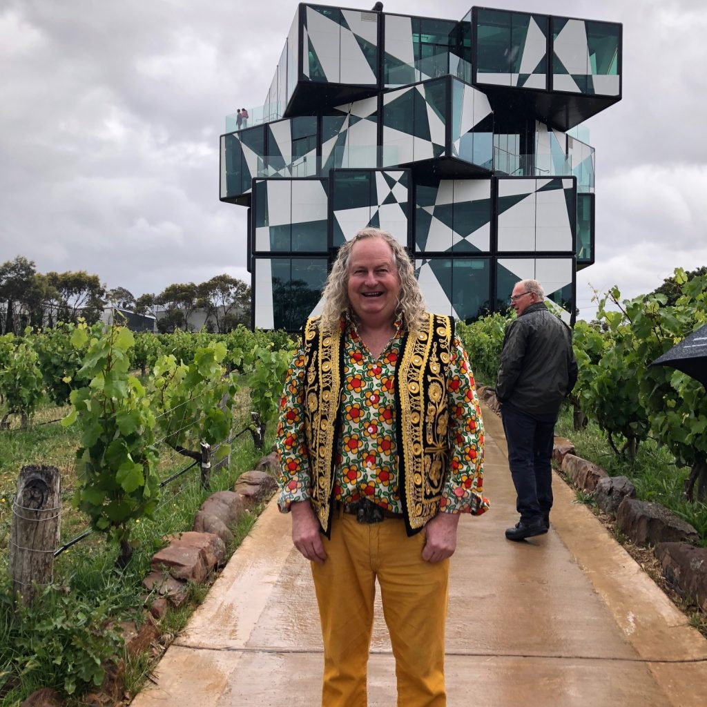 Chester Osborn outside D Arenbergs Cube project which has done so much to attract tourists and attention to the McLaren Vale