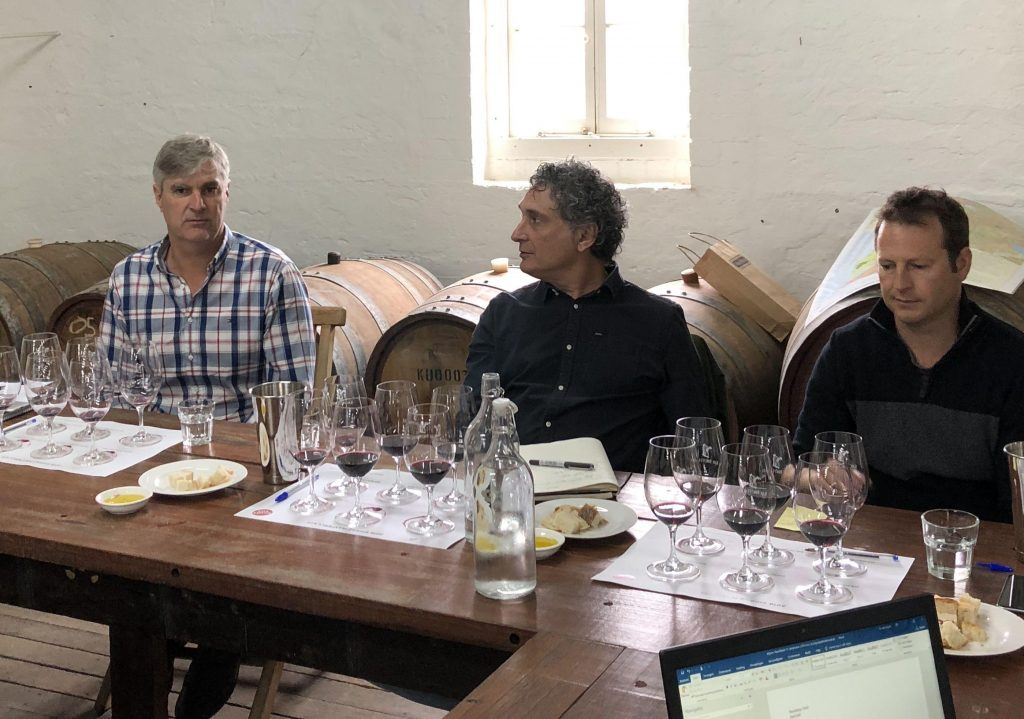 Like minded winemakers including from left to right