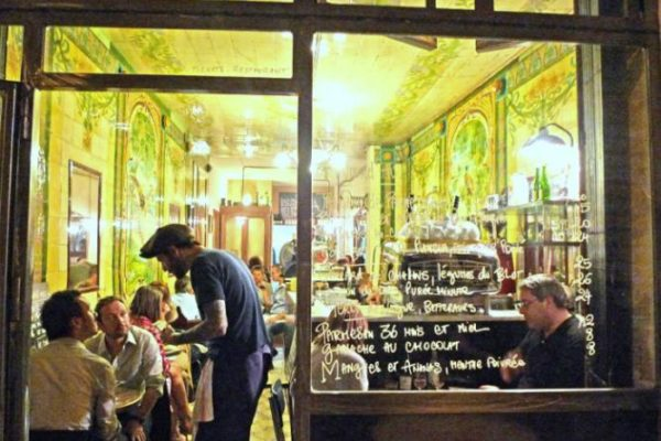 Where better in the world to drink wine than in a classic Parisien wine bar?