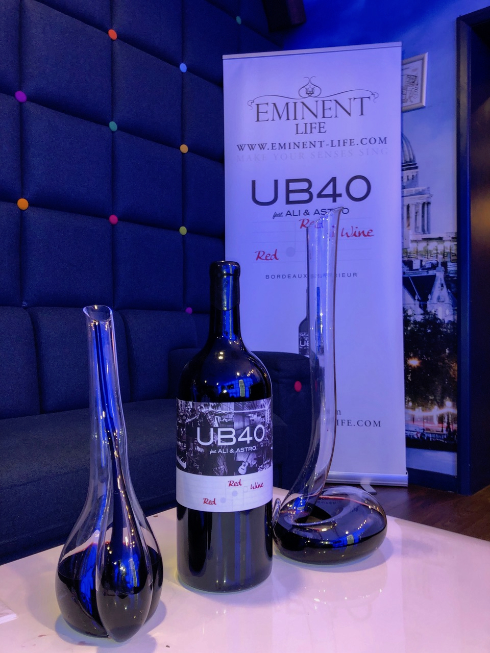 The story behind UB40 with Ali and Astro's Bordeaux Red Red wine