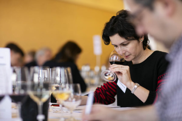 Ana Sapungiu taking part in this year's judging at the IWSC