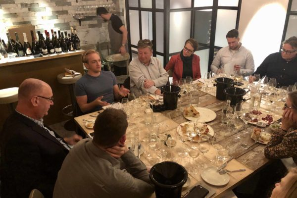 The panel of buyers included merchant, restaurateurs, sommeliers and distributors