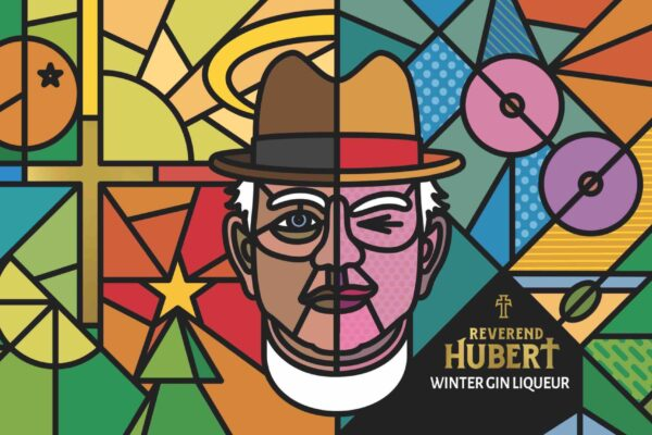 The label and design looks to reflect the mixed personality of Reverend Hubert